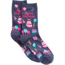 Hot Sox Women's Happy Birthday Fashion Crew Socks found on Bargain Bro India from Macys CA for $7.39