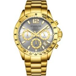Stuhrling Original Men's Chrono, Grey Dial, Gold Bezel/Silver Case, Gold/Silver Bracelet Watch found on Bargain Bro India from Macy's Australia for $97.74