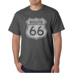 La Pop Art Mens Word Art T-Shirt - Route 66