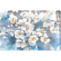 Oliver Gal Spring Blossom in Blue Canvas Art, 36