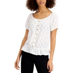 Bcx Juniors' Eyelet Peplum Top found on Bargain Bro Philippines from Macy's for $29.25