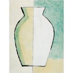 Pablo Esteban White and Yellow Vase Canvas Art - 27