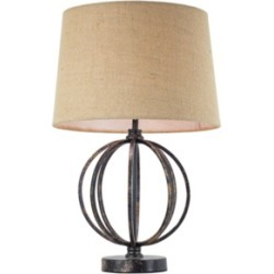 American Art Decor Industrial Cage Table Lamp