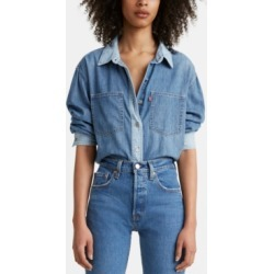 Levi's Maple Cotton Denim Utility Shirt found on MODAPINS from Macy's for USD $35.70