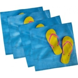 "Ambesonne Summer Season Set of 4 Napkins, 18"" x 18"""