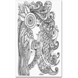 KCDoodleArt Flower Girls 3 Canvas Art - 1