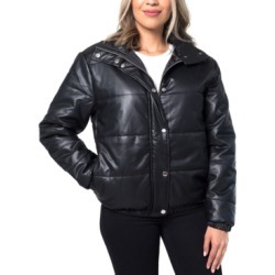 Kit & Sky Faux-Leather Puffer Jacket found on Bargain Bro India from Macy's for $99.00