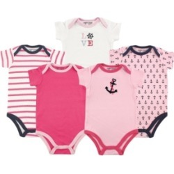 Baby Vision 12-24 Months Unisex Luvable Friends Baby Bodysuits, 5-Pack