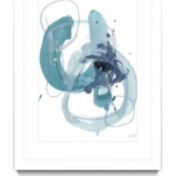 "Giant Art Aqua Orbit Ii Matted and Framed Art Print, 36"" x 52"""