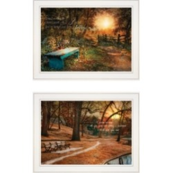 "Trendy Decor 4U Resting Places 2-Piece Vignette by Robin-Lee Vieira, White Frame, 19"" x 15"""