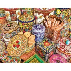 Springbok Puzzles Cookie Tins 500 Piece Jigsaw Puzzle