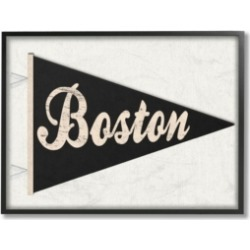 """Stupell Industries Boston Pennant Black Framed Giclee Art, 16"""" x 20"""""""