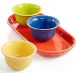 Fiesta Mixed Colors 4-Piece Entertaining Set, Created for Macy's