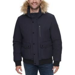 Calvin Klein Men's Bomber Parka with Faux Fur Hood found on MODAPINS from Macy's for USD $325.00