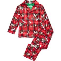 Ame Baby Boys 2 Pc Mickey Mouse Holiday Pajamas Set