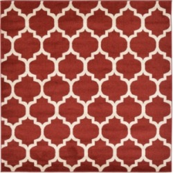 Bridgeport Home Arbor Arb1 Red 6' x 6' Square Area Rug found on Bargain Bro India from Macy's for $100.50