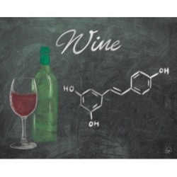 "Creative Gallery Wine Chalkboard Formula 36"" x 24"" Canvas Wall Art Print"