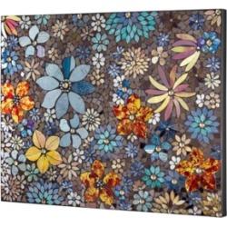 American Art Decor Floral Crushed Glass Mosaic Wall Art Decor