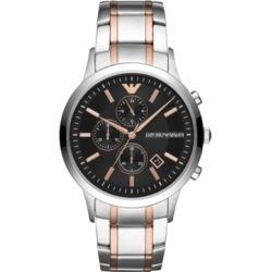 Emporio Armani Chronograph Men's Two-Tone Stainless Steel Bracelet Watch 43mm