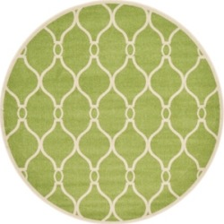 Bridgeport Home Arbor Arb6 Green 8' x 8' Round Area Rug found on Bargain Bro India from Macy's for $189.50