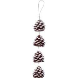 DecoFlair Candle on a Rope - Sculpted Pinecones