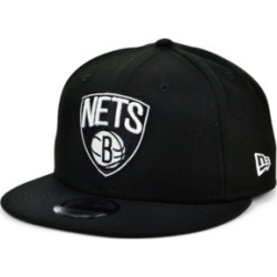 New Era Brooklyn Nets Black White 9FIFTY Snapback Cap found on Bargain Bro India from Macy's for $31.99