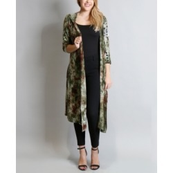 Women's Tie Dye 3/4 Sleeves Hoodie Duster found on MODAPINS from Macy's for USD $37.50