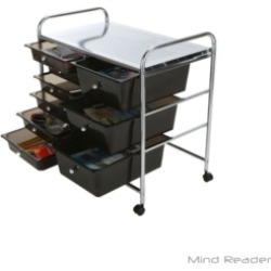 Mind Reader Storage Drawer Rolling Utility Cart, 9 Drawer Organizer found on Bargain Bro India from Macy's for $89.99
