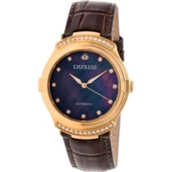 Empress Francesca Automatic Dark Brown Leather Watch 35mm found on Bargain Bro India from Macy's for $173.99