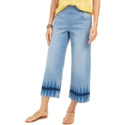 Style & Co Dyed Wide-Leg Cropped Jeans, Created for Macy's found on MODAPINS from Macy's for USD $49.00