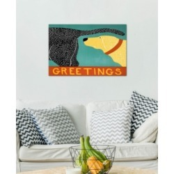"""iCanvas """"Greetings Black Yellow"""" by Stephen Huneck Gallery-Wrapped Canvas Print (26 x 40 x 0.75)"""