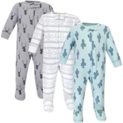 Yoga Sprout Zipper Sleep N Play, Cactus, 3 Pack, 3-6 Months