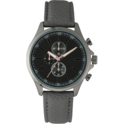 I.n.c. Men's Gray Faux Leather Strap Watch 42mm, Created for Macy's found on Bargain Bro India from Macy's for $23.73