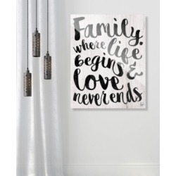 """Creative Gallery Family - Where Life Beings in Black 16"""" x 20"""" Acrylic Wall Art Print"""