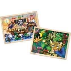 Melissa and Doug Jigsaw Bundle 48pc - Boy 2 Puzzle Bundle