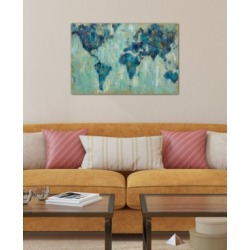 """iCanvas """"Map Of The World"""" by Silvia Vassileva Gallery-Wrapped Canvas Print (26 x 40 x 0.75)"""
