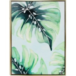 Large Canvas Wall Art with Tropical Leaf Design found on Bargain Bro from Macy's for USD $218.87