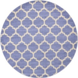 Bridgeport Home Arbor Arb1 Light Blue 8' x 8' Round Area Rug found on Bargain Bro India from Macy's for $189.50