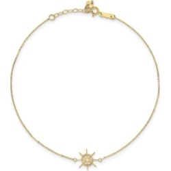 Captain Wheel Anklet in 14k Yellow Gold