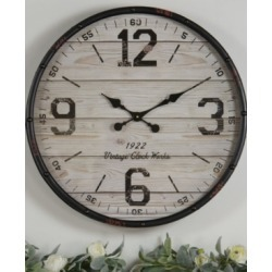 "Vip Home & Garden Cream 24"" Wall Clock"