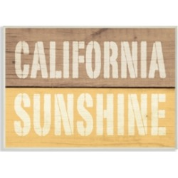Stupell Industries California Sunshine Distressed Wood Typography Wall Plaque Art, 10