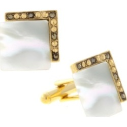 1928 Jewelry 14K Gold Plated Mother of Pearl Square Cufflinks
