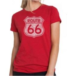 Women's Premium Word Art T-Shirt - Route 66