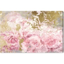 Oliver Gal Pink and Gold Camellias Canvas Art - 30