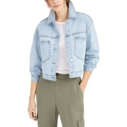 Oat Cropped Denim Jacket found on MODAPINS from Macy's for USD $59.25