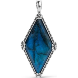Carolyn Pollack Faceted Labradorite Kite Pendant Enhancer in Sterling Silver