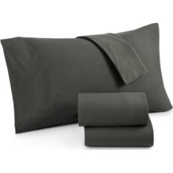 Micro Flannel Solid Twin 3-pc Sheet Set
