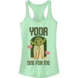 Fifth Sun Star Wars Yoda One For Me Cute Valentine's Ideal Racer Back Tank
