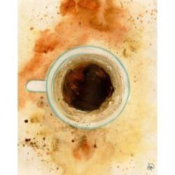 "Creative Gallery Blue Mountain Coffee Watercolor 24"" x 20"" Canvas Wall Art Print"