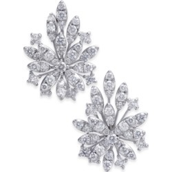Diamond Cluster Flower Stud Earrings (1-3/4 ct. t.w.) in 14k White Gold found on Bargain Bro India from Macy's for $1662.15